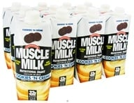 Cytosport - Muscle Milk Lean Muscle Formula RTD High Protein Shake Cookies 'n Cream - 17 oz. by Cytosport