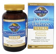 Primal Defense Ultra Ultimate Probiotic Formula 15 Billion CFU - 180 Vegetarian Capsules by Garden of Life