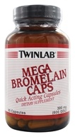 Image of Twinlab - Mega Bromelain Quick Acting Caps 300 mg. - 90 Capsules