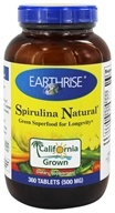 Earthrise - Spirulina Natural Green Super Food For Longevity 500 mg. - 360 Tablets