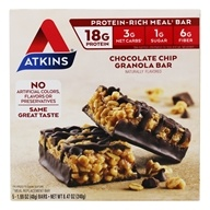 Atkins Nutritionals Inc. - Advantage Meal Bar Chocolate Chip Granola - 5 Bars - $8.59