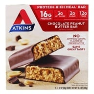 Atkins Nutritionals Inc. - Advantage Meal Bar Chocolate Peanut Butter - 5 Bars (637480025027)