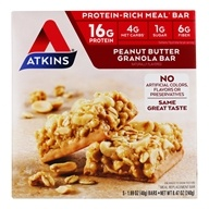 Image of Atkins Nutritionals Inc. - Advantage Bar Peanut Butter Granola - 5 Bars
