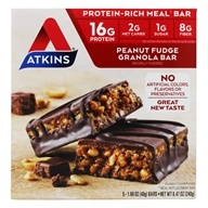 Image of Atkins Nutritionals Inc. - Advantage Meal Bars Peanut Fudge Granola - 5 Bars