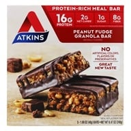 Atkins Nutritionals Inc. - Advantage Meal Bars Peanut Fudge Granola - 5 Bars by Atkins Nutritionals Inc.
