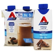 Image of Atkins Nutritionals Inc. - Advantage RTD Shake - 11 oz. Cafe Mocha Latte - 4 Pack