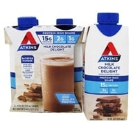 Atkins Nutritionals Inc. - Advantage RTD Shake - 11 oz. Milk Chocolate Delight - 4 Pack (637480065016)