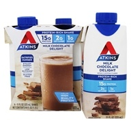 Image of Atkins Nutritionals Inc. - Advantage RTD Shake - 11 oz. Milk Chocolate Delight - 4 Pack