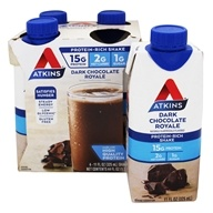 Atkins Nutritionals Inc. - Advantage RTD Shake - 11 oz. Dark Chocolate Royale - 4 Pack (637480065108)