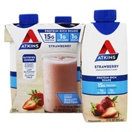 Atkins Nutritionals Inc. - Advantage RTD Shake - 11 oz. Strawberry - 4 Pack (637480065078)