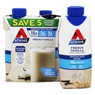 Atkins Nutritionals Inc. - Advantage RTD Shake - 11 oz. French Vanilla - 4 Pack (637480065047)
