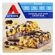 Snack Bars Box Chocolate Chip Crisp by Atkins