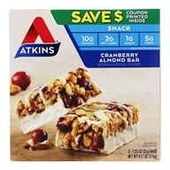Image of Atkins Nutritionals Inc. - Day Break Bar Cranberry Almond - 5 Bars