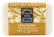 One With Nature - Dead Sea Mineral Bar Soap Ultra Moisturizing Shea Butter - 7 ...
