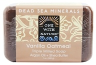 One With Nature - Dead Sea Mineral Bar Soap Mild Exfoliating Vanilla Oatmeal - 7 oz. (893455000035)