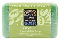 One With Nature - Dead Sea Mineral Bar Soap Moisturizing Olive Oil - 7 oz. by One With Nature