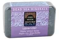 One With Nature - Dead Sea Mineral Bar Soap Mild Exfoliating Lavender - 7 oz. - $3.17