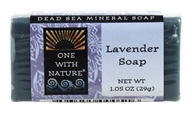 One With Nature - Dead Sea Mineral Bar Soap Mini Lavender - 1.05 oz. by One With Nature