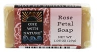 One With Nature - Dead Sea Mineral Bar Soap Mini Rose Petal - 1.05 oz. by One With Nature