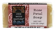 One With Nature - Dead Sea Mineral Bar Soap Mini Rose Petal - 1.05 oz., from category: Personal Care
