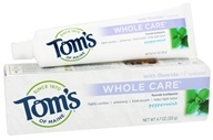 Image of Tom's of Maine - Natural Toothpaste Whole Care With Fluoride Peppermint - 4.7 oz.