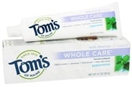 Tom's of Maine - Natural Toothpaste Whole Care With Fluoride Peppermint - 4.7 oz. - $4.38