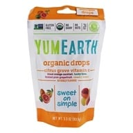 Yummy Earth - Organic Vitamin C Drops Gluten Free Citrus Grove Flavors - 3.3 oz. (93.5g) (810165011533)