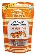 Yummy Earth - Organic Candy Drops Gluten Free Ginger Zest - 3.3 oz. (93.5g) (810165011595)