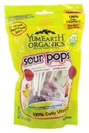 Yummy Earth - Organic Lollipops Gluten Free Super Sour Flavors - 3 oz. (85g) 15 Lollipops (810165011656)