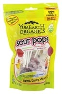 Yummy Earth - Organic Lollipops Gluten Free Super Sour Flavors - 3 oz. (85g) 15 Lollipops