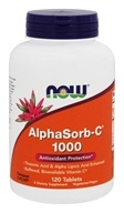 NOW Foods - AlphaSorb C 1000 Antioxidant Protection - 120 Tablets, from category: Vitamins & Minerals