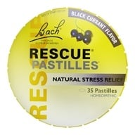Image of Bach Original Flower Remedies - Rescue Remedy Pastilles Black Currant - 1.7 oz.