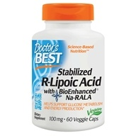 Doctor's Best - Best Stabilized R-Lipoic Acid 100 mg. - 60 Vegetarian Capsules - $16.18