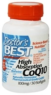 Doctor's Best - High Absorption CoQ10 100 mg. - 30 Softgels