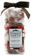 Yummy Earth - Organic Artisanal Candy Gluten Free Ginger Zest - 6 oz. CLEARANCE PRICED