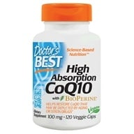 Doctor's Best - High Absorption CoQ10 100 mg. - 120 Vegetarian Capsules (753950001886)