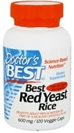 Doctor's Best - Best Red Yeast Rice 600 mg. - 120 Vegetarian Capsules