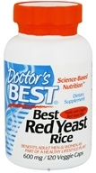 Doctor's Best - Best Red Yeast Rice 600 mg. - 120 Vegetarian Capsules (753950001183)