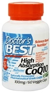 Doctor's Best - High Absorption CoQ10 100 mg. - 60 Vegetarian Capsules (753950000698)