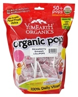 Yummy Earth - Organic Lollipops Gluten Free Strawberry Smash - 12.3 oz.