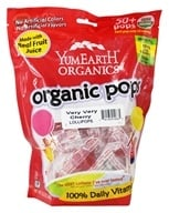 Yummy Earth - Organic Lollipops Gluten Free Very Very Cherry - 12.3 oz.