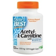 Image of Doctor's Best - Best Acetyl-L-Carnitine Featuring Sigma Tau Carnitine 588 mg. - 120 Capsules