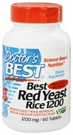 Doctor's Best - Best Red Yeast Rice 1200 mg. - 60 Tablets - $9.36