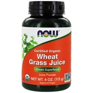 NOW Foods - Wheat Grass Juice Green Superfood Powder Certified Organic - 4 oz., from category: Health Foods