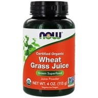 NOW Foods - Wheat Grass Juice Green Superfood Powder Certified Organic - 4 oz. - $13.62