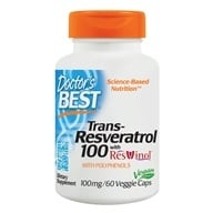 Doctor's Best - Best Trans-Resveratrol 100 Featuring ResVinol-25 100 mg. - 60 Vegetarian Capsules by Doctor's Best