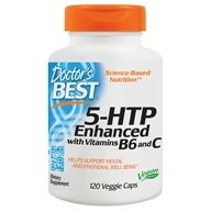 Doctor's Best - 5-HTP Enhanced with Vitamins B6 & C - 120 Vegetarian Capsules (753950001206)