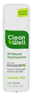 CleanWell - Natural Hand Sanitizer Alcohol Free - 1 oz. CLEARANCE PRICED