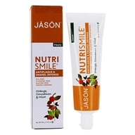 Jason Natural Products - Nutrismile All Natural Ester-C Toothpaste Orange, Cinnamon and Mint Flavor - 4.2 oz. (078522015208)