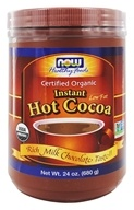 Image of NOW Foods - Instant Hot Cocoa Low Fat Certified Organic Milk Chocolate - 24 oz.